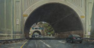 "TUNNEL VISION 36"" X 18"" ACRYLIC ON CANVAS"
